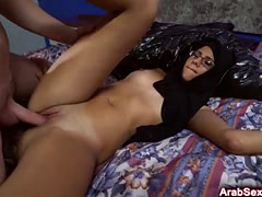 Arab chick pounded with long dick