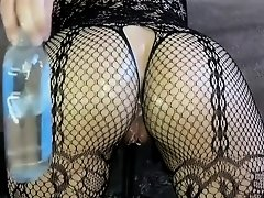 SELF ANALFISTING FISHNET PROLAPSE