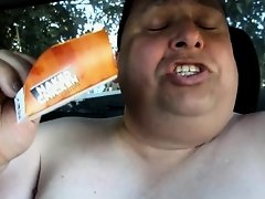 Fat Mexican gets naked and eats Taco Bell