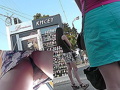 Amazing upskirt free clip with participation of cutie