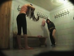 Changing room spy cam voyeured even two naked amateurs