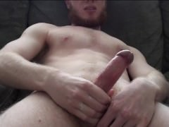 Young Amateur Guy Strokes and Cums Hard
