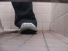 Public toilet cam scenes with amateur pussies closeups
