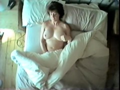 Horny girl masturbates on hidden cam