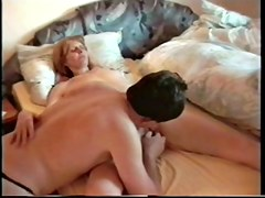 Mature slut enjoys a dildo and a dick in voyeur sex video