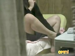 Asian girl masturbating her furry peach and anal on spy cam