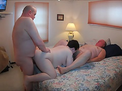 Kaylee pleasing 2 guys