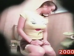 Toilet spy cam shoots hot porn with girl fingering pussy