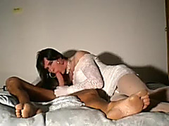 Horny and freaky big boned lady-stud blowing 10-Pounder on livecam