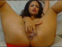 latina girl masturbates hot orgasm with big squirts