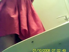 Beautiful toilet spy cam close up of girls nub after pissing