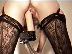 Wall Dildo Squirting Orgasm