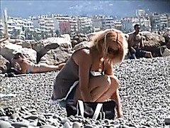 French Riviera Beach French Angel Filmed Topless On Voyeur Livecam