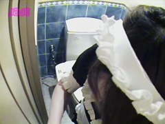 Tired from work pretty teen gets on piss cam masturbating