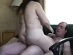 Mount fuck and cum