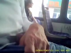 Lewd man wants sweet bus passenger see his hard dick