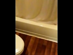 Naked wife caught in the shower enf