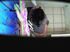 Hidden in toilet cam records real hot scenes with amateur