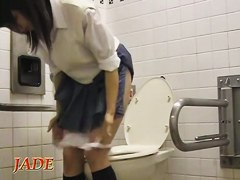 Hot schoolgirl in the horny upskirt masturbation scenes