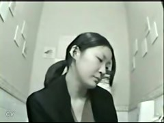 Girl peeing on cam is getting voyeured in the toilet