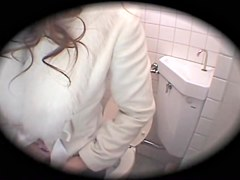 Naughty asian girl is screwed hard by boyfriend in toilet