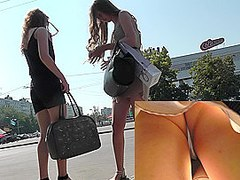 Hot voyeur upskirt tumblr with two adorable girls