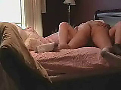 Amateur Couple Jumping in the Bed