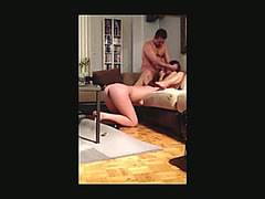 Fortunate Stud Voyeur Three-Some Sextape