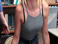 LP Officer banging Zoey Darks tight twat on the desk