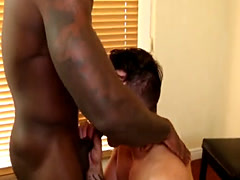 White stud blows and bangs neighbor black dong