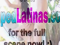 Perfect Latina Cameron Canela gives blowjob and fucks with panties on