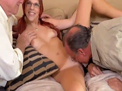 Teen abused by old and virgin first time Frannkie And The Gang Take a