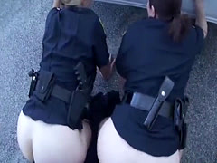 Black cock satisfying two cops