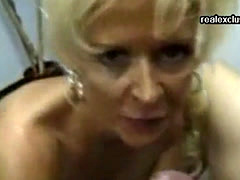 50 years old Krissy devours my dick and cum